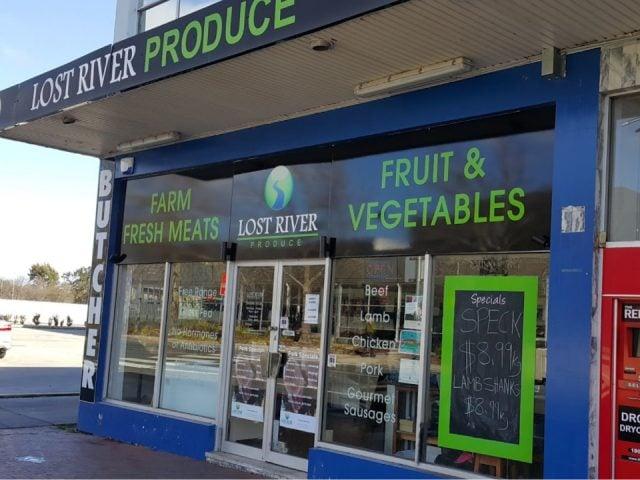 Boucherie alimentation Lost River Produce Dickson ACT Australie Ulcoal produit local achat local