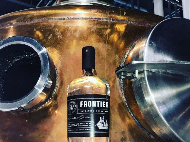 liquor frontier explorers white rum with copper tanks pennsylvania distilling company malvern pennsylvania united states ulocal local products local purchase local produce locavore tourist