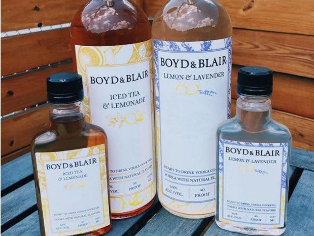 alcool 4 bouteilles de boyd and blair liquor à différentes saveurs pennsylvania pure distilleries glenshaw pennsylvanie états unis ulocal produits locaux achat local produits du terroir locavore touriste
