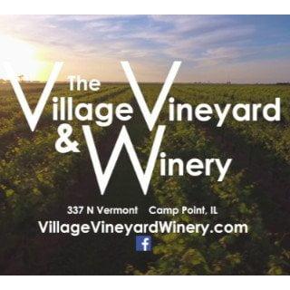 vignoble logo the village vineyard and winery camp point illinois états unis ulocal produits locaux achat local produits du terroir locavore touriste