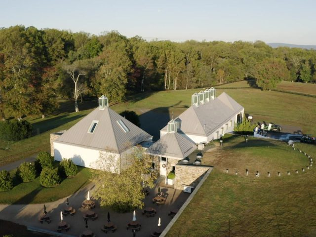 vineyards aerial view of the estate with wineries terrace and large plot boxwood estate winery middleburg virginia united states ulocal local products local purchase local produce locavore tourist