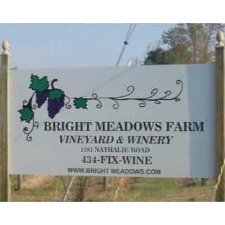vineyards logo bright meadows farm vineyard and winery nathalie virginia united states ulocal local products local purchase local produce locavore tourist