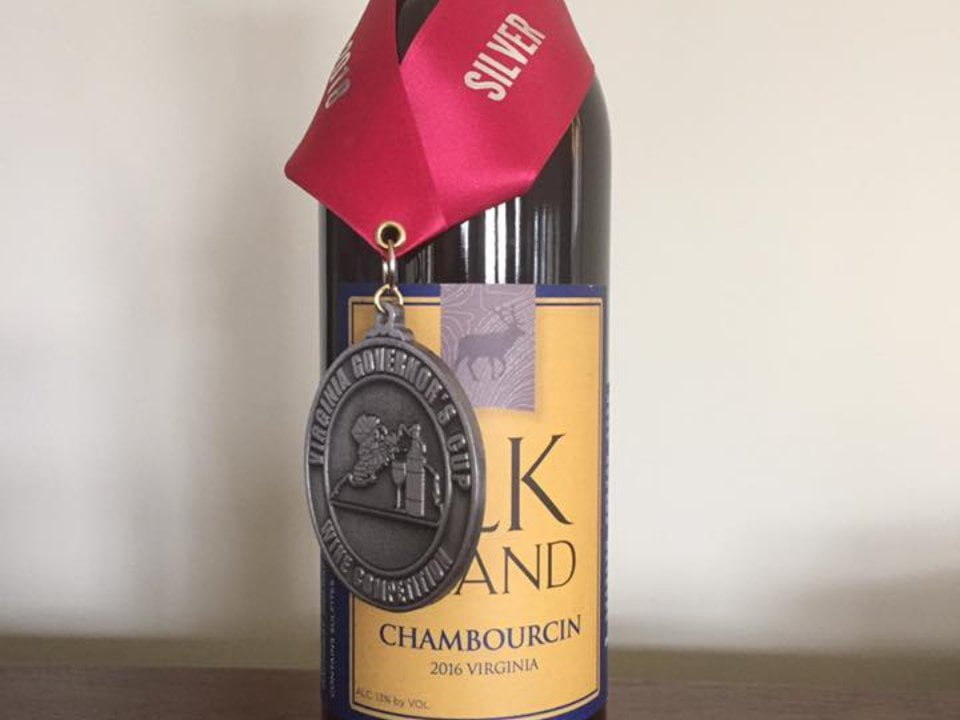 vineyards award-winning bottle of wine from the vineyard elk island winery goochland virginia united states ulocal local products local purchase local produce locavore tourist