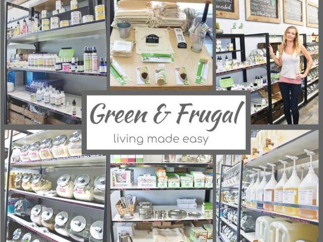 Cosmétique boutique zéro déchet écologiques Green & Frugal Scarborough Ontario Ulocal produit local achat local