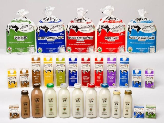 Lait biologique Harmony Organic Dairy Products Listowel Ontario Ulocal produit local achat local