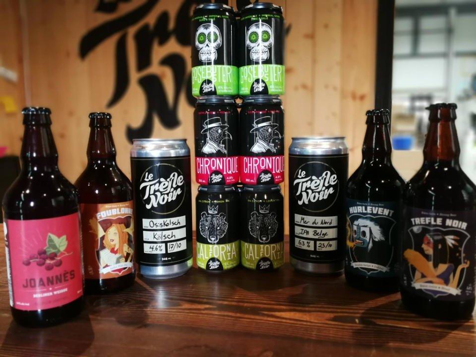 Microbrasserie bières artisanale boissons alcool alimentation Le Trèfle Noir Rouyn-Noranda Québec ulocal produit local achat local