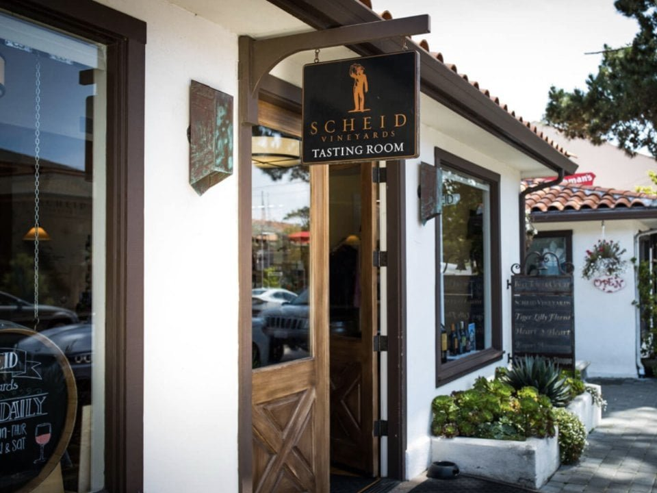 alcool vignoble scheid vineyards tasting room carmel by the sea californie ulocal produit local achat local