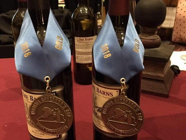 vignoble 2 bouteilles de vin primées en 2018 du vignoble the barns at hamilton station vineyards hamilton virginie états unis ulocal produits locaux achat local produits du terroir locavore touriste