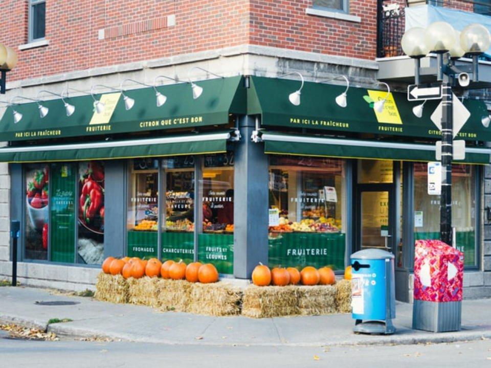 épicerie spécialisée facade extérieure de la boutique citron que cest bon montréal quebec canada ulocal produits locaux achat local produits du terroir locavore touriste