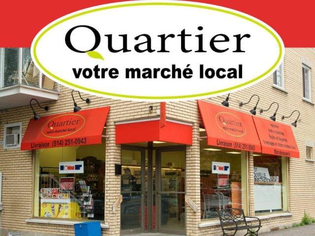 épicerie spécialisée facade de l'épicerie epicerie quartier votre marche local montréal quebec canada ulocal produits locaux achat local produits du terroir locavore touriste