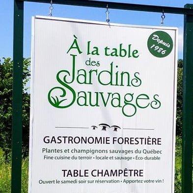 restaurant logo les jardins sauvages saint-roch-de-l'achigan quebec canada ulocal produits locaux achat local produits du terroir locavore touriste
