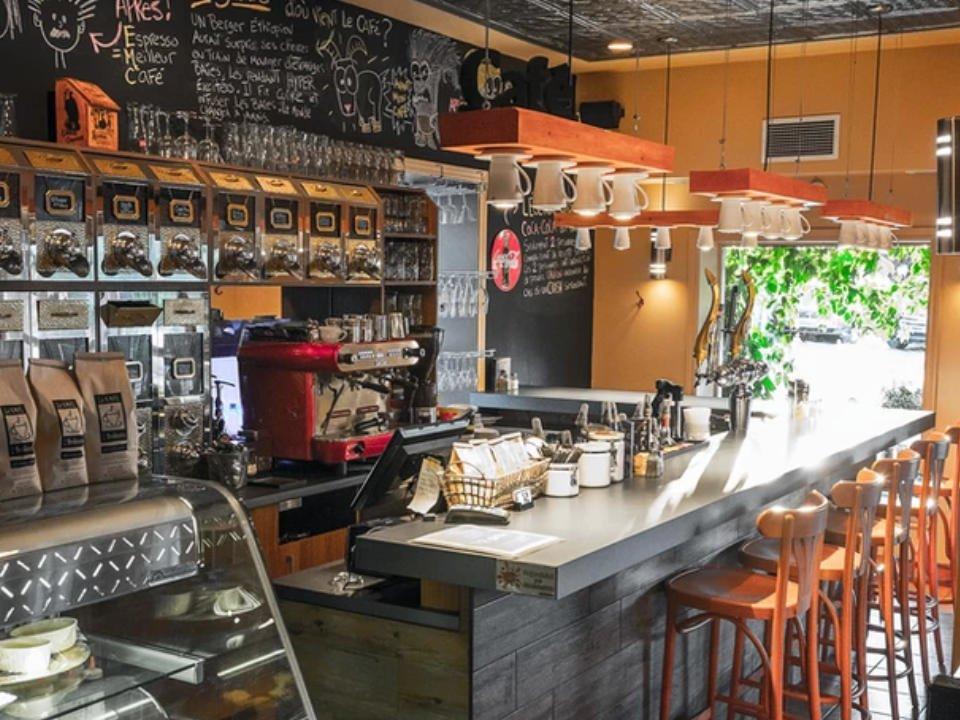 Cafe torréfié sur place boutique alimentation Le Café de la Brûlerie Granby Québec ulocal produit local achat local