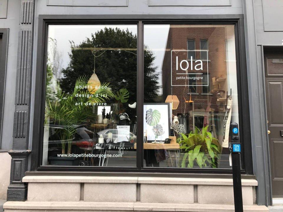 boutique d'artisanat facade extérieure de la boutique lola petite bourgogne montréal quebec canada ulocal produits locaux achat local produits du terroir locavore touriste