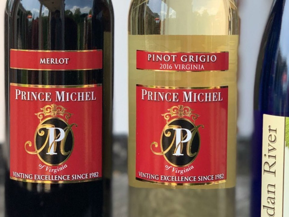vineyards bottles of wine prince michel winery leon virginia united states ulocal local products local purchase local produce locavore tourist