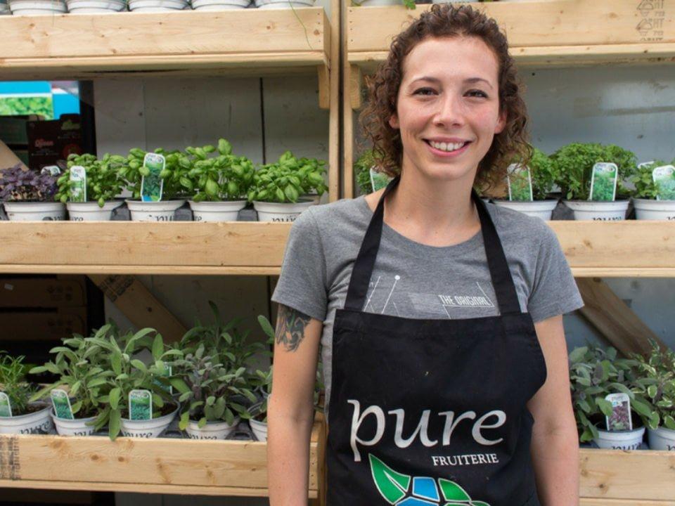 marché de fruits et/ou légumes boutique et kiosque de fines herbes pure horticulture montreal quebec canada ulocal produits locaux achat local produits du terroir locavore touriste