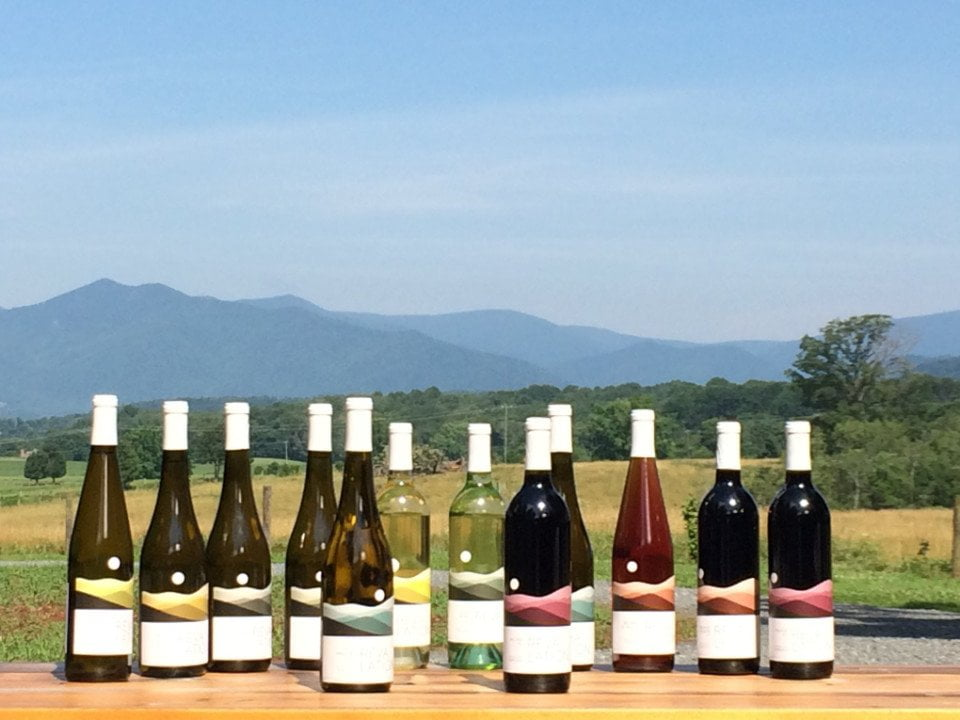 vignoble bouteilles de vin et domaine revalation vineyards madison virginie états unis ulocal produits locaux achat local produits du terroir locavore touriste