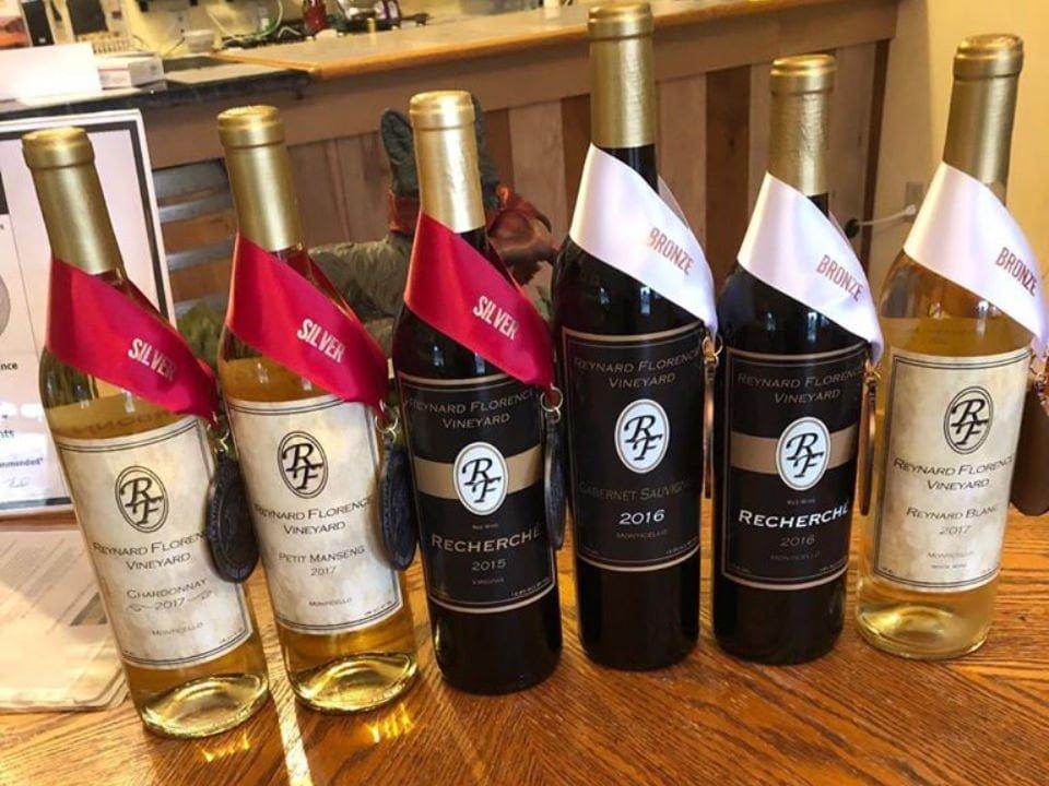 vignoble bouteilles de vin primées reynard florence vineyard barboursville virginie états unis ulocal produits locaux achat local produits du terroir locavore touriste