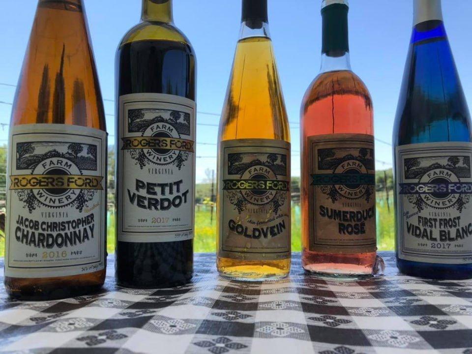 vignoble bouteilles de vin rogers ford farm winery sumerduck virginie états unis ulocal produits locaux achat local produits du terroir locavore touriste