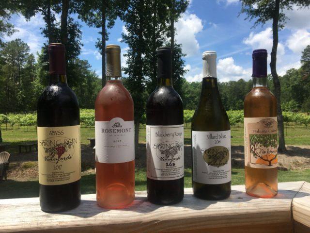 vignoble bouteilles de vin spring run vineyards chesterfield virginie états unis ulocal produits locaux achat local produits du terroir locavore touriste