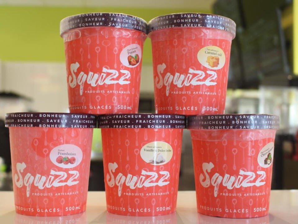 Gelato sorbets sandwich Squizz Distributions Rouyn-Noranda Quebec Ulocal local product local purchase