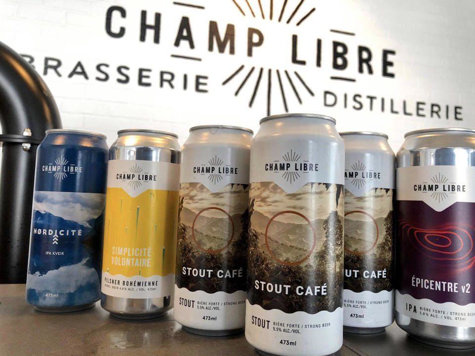 alcool microbrasserie brasserie et distillerie champ libre mercier quebec ulocal produit local achat local