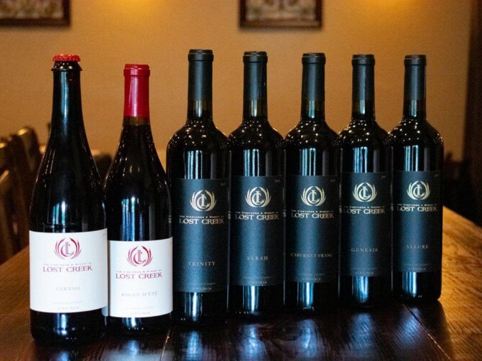 vignoble bouteilles de vin the vineyards and winery at lost creek leesburg virginie états unis ulocal produits locaux achat local produits du terroir locavore touriste