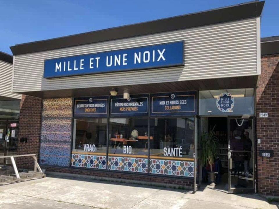 alimentation boutique aliments mille et une noix facade sherbrooke quebec canada ulocal produit local achat local