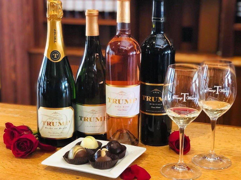 vignoble bouteilles de vin et bar de dégustation trump winery charlottesville virginie états unis ulocal produits locaux achat local produits du terroir locavore touriste