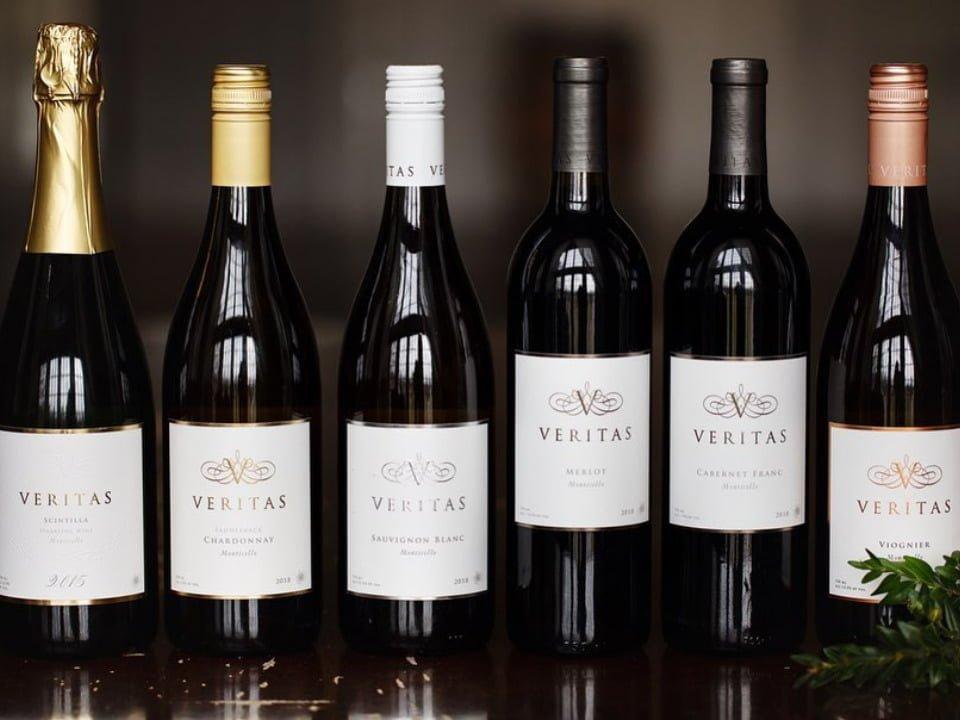 vignoble bouteilles de vin veritas vineyards afton virginie états unis ulocal produits locaux achat local produits du terroir locavore touriste