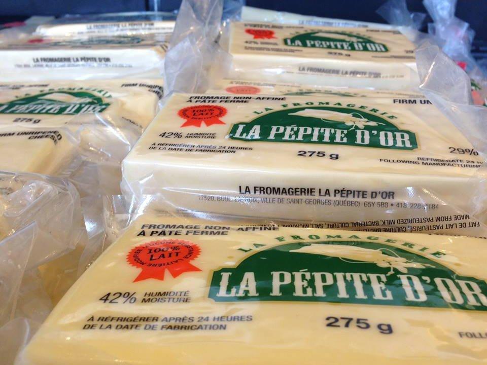 Fromage en grain Fromagerie fromage twist poutine Fromagerie la Pépite d'Or Inc. Saint-Georges Ulocal produits local achat local produits du terroir