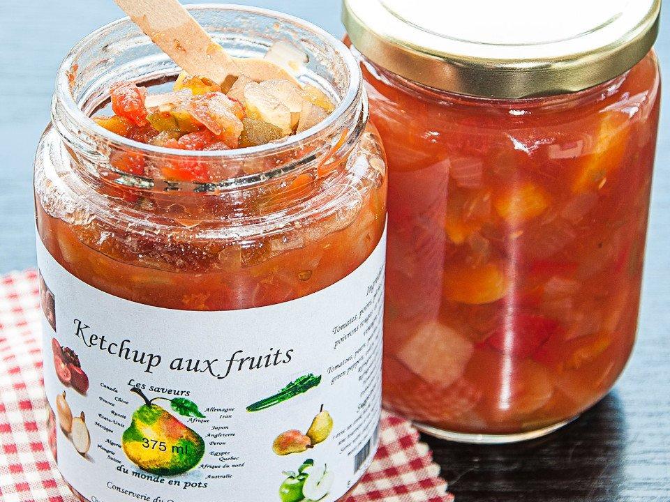 Ketchup aux fruits Confitures marinades La conserverie du quartier Québec Ulocal produit local achat local produits du terroirs